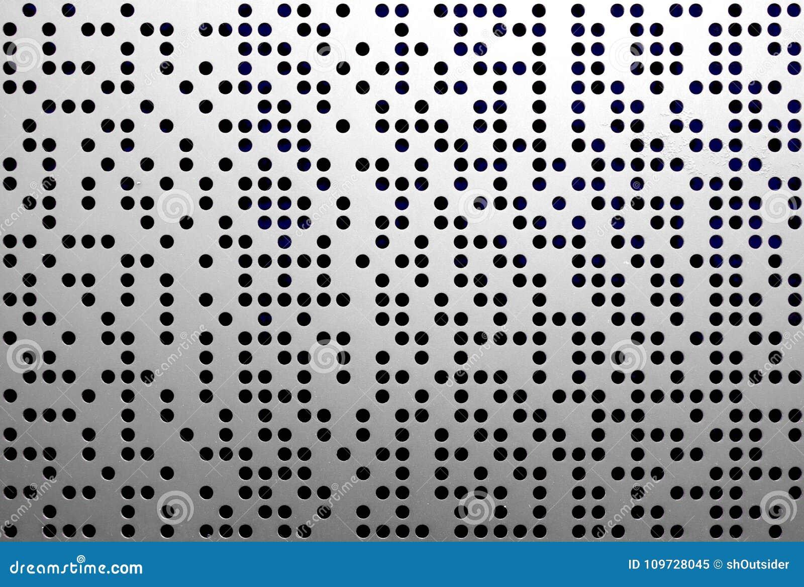 Onregelmatige geperforeerde metaal grijze plaat
