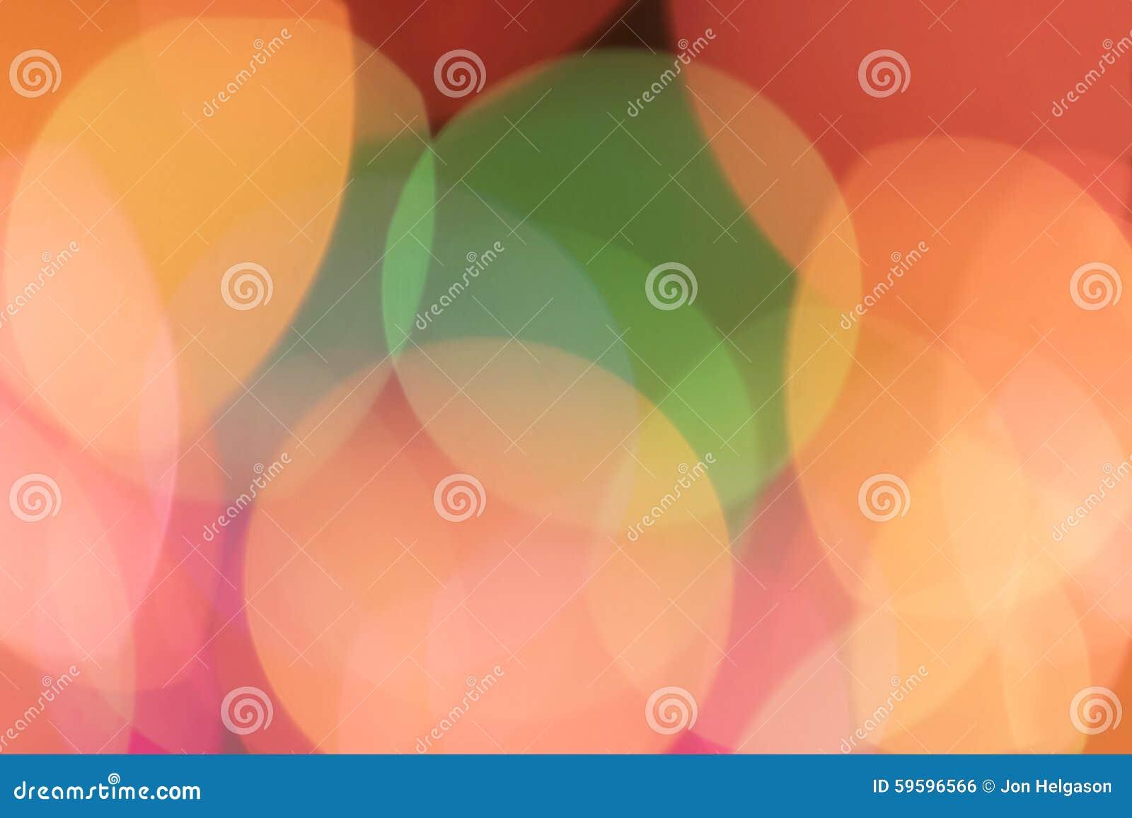 Onscherpe kleurrijke lichten