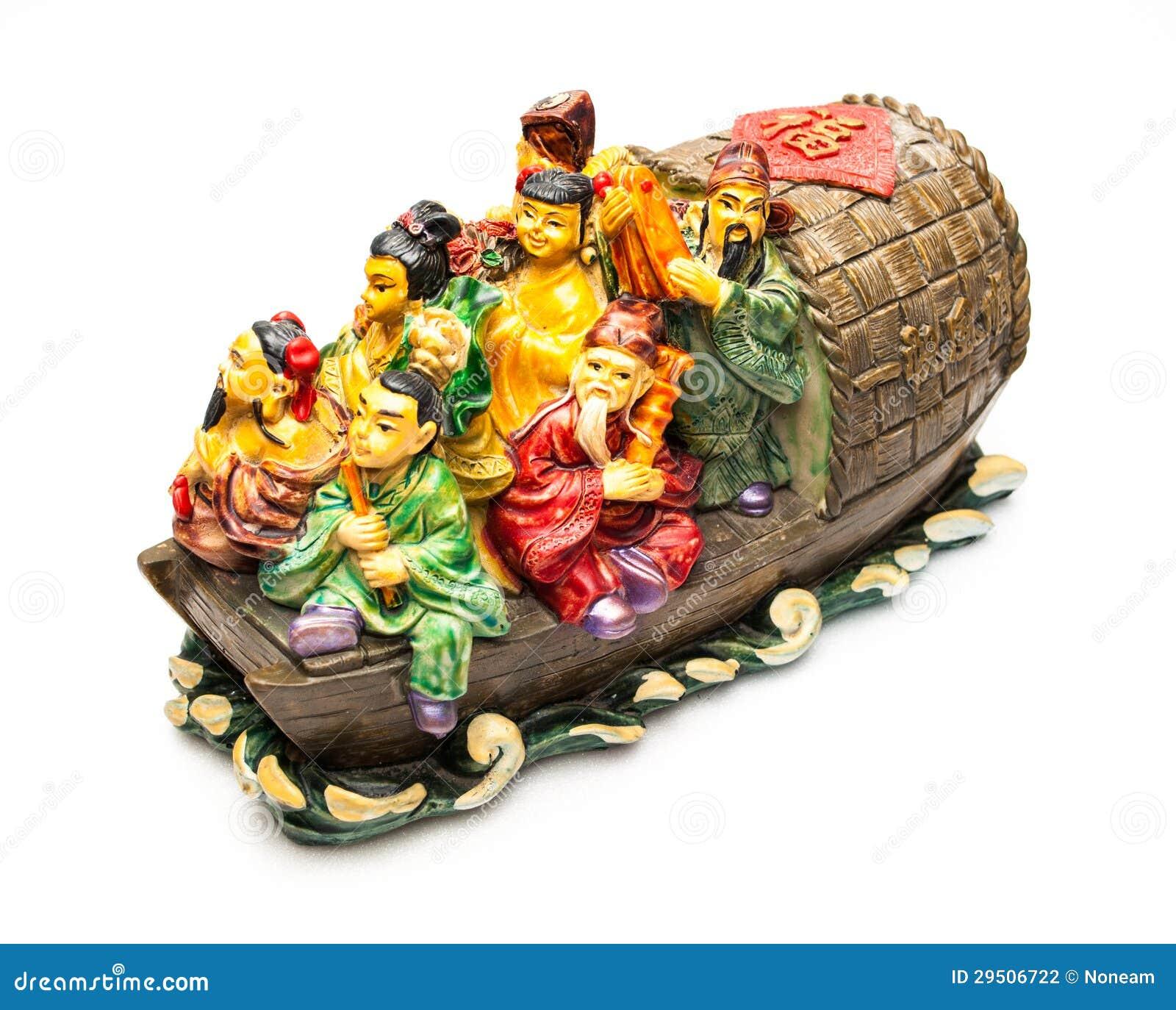 Onsterfelijk van Chinese Verhalen in Boeddhisme op de boot Chinese Grote Meesters in Boeddhisme op de boot
