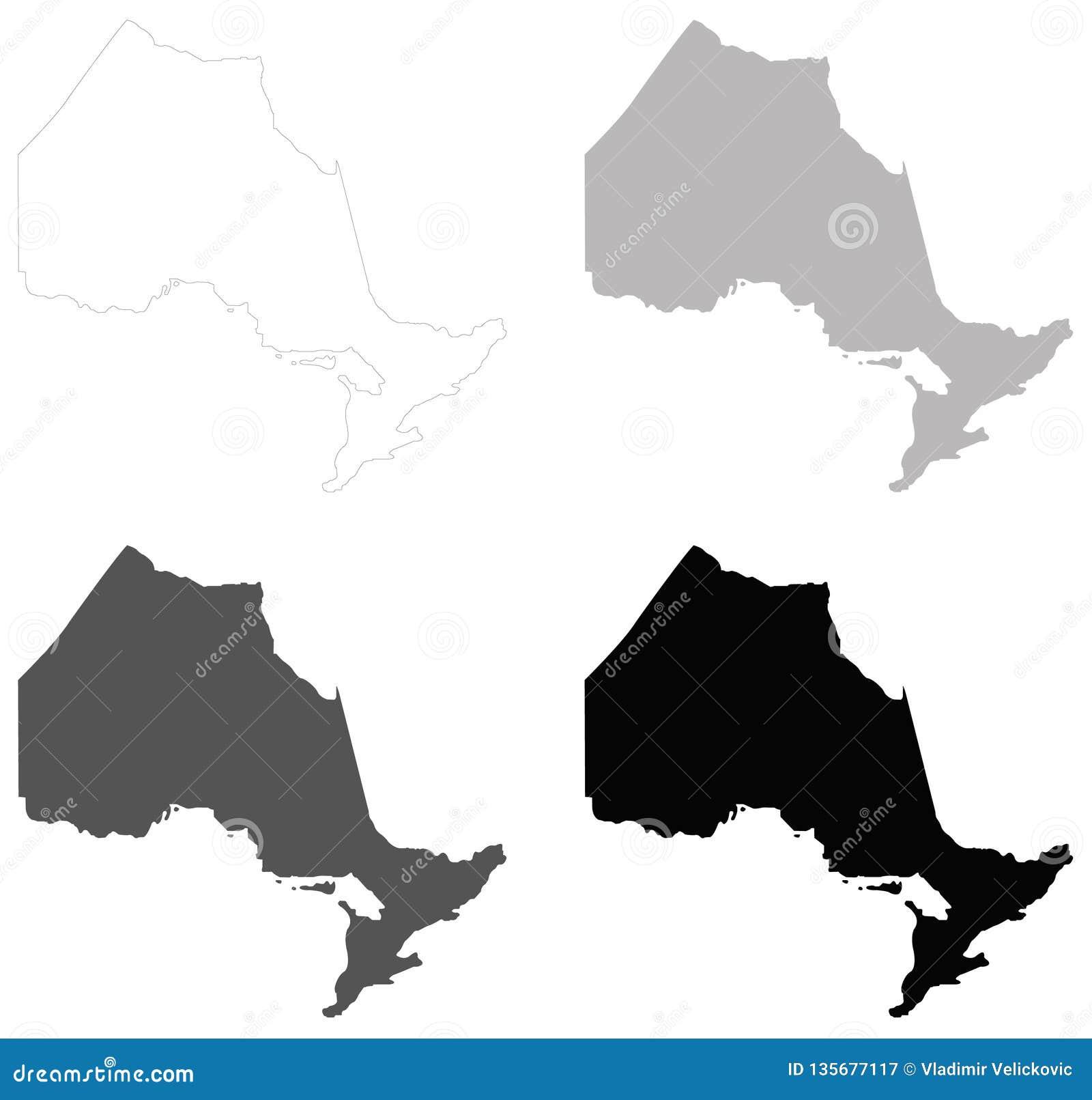Ontario-Karte - Provinz gelegen in Osten-zentralem Kanada