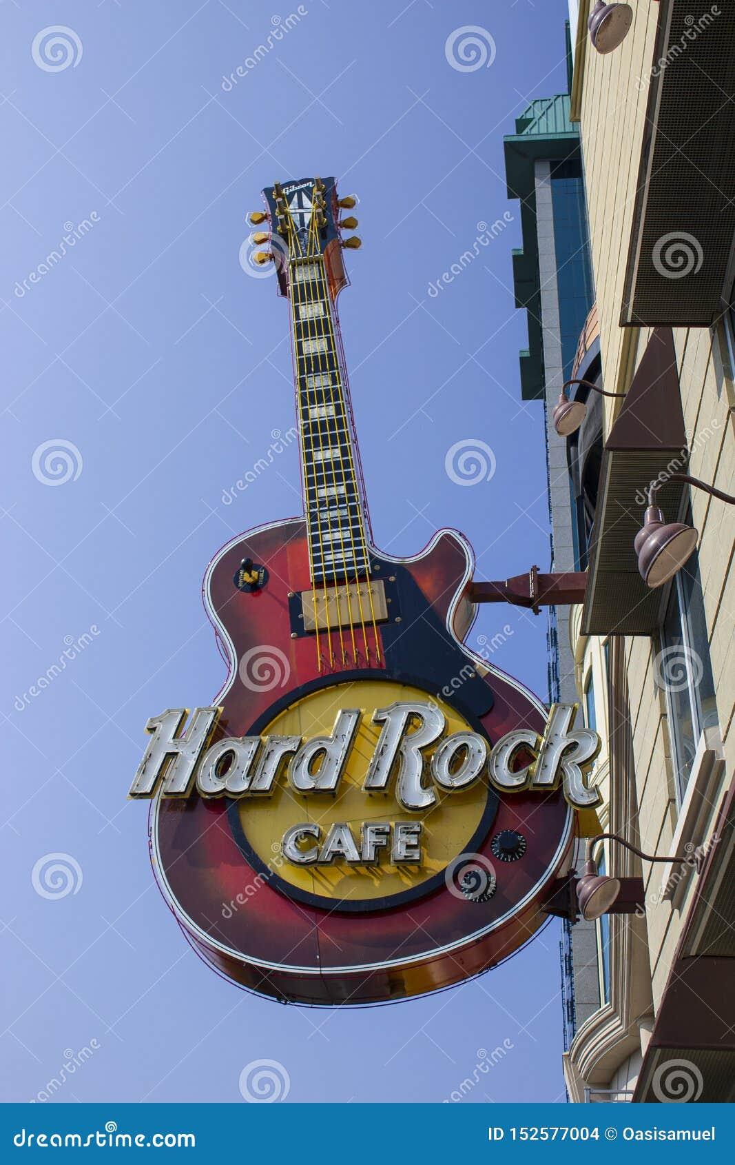 Ontario, Toronto, Kanada Czerwiec 2010, hard rock kawiarnia zamknięta w górę znaka