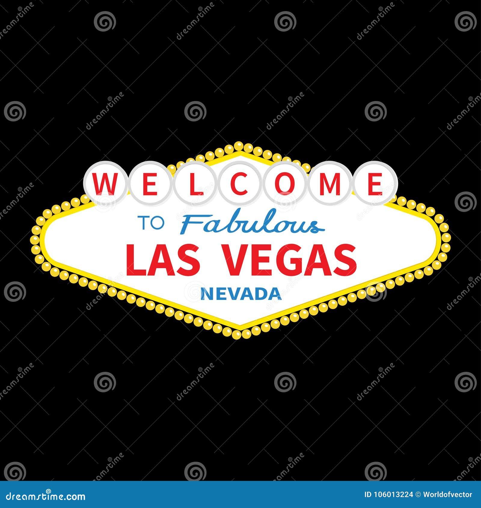 Onthaal aan het tekenpictogram van Las Vegas Klassiek retro symbool