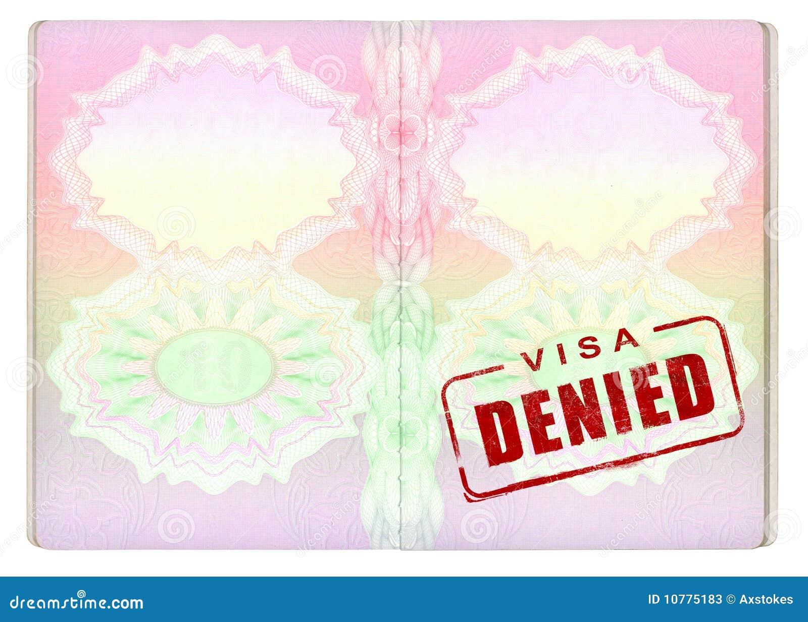 Ontkend Visum op Paspoort