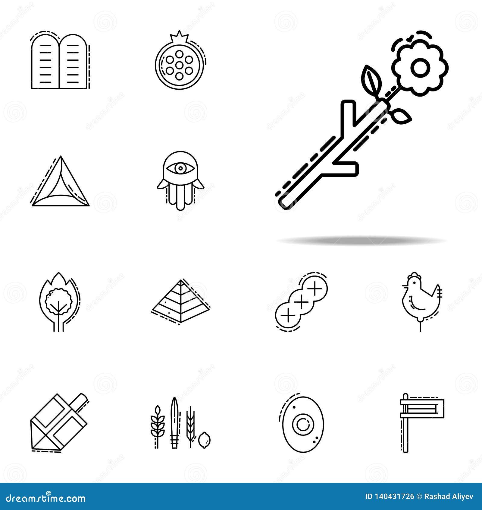 Ontluikend personeelspictogram Voor Web wordt geplaatst dat en het mobiele algemene begrip van judaïsmepictogrammen