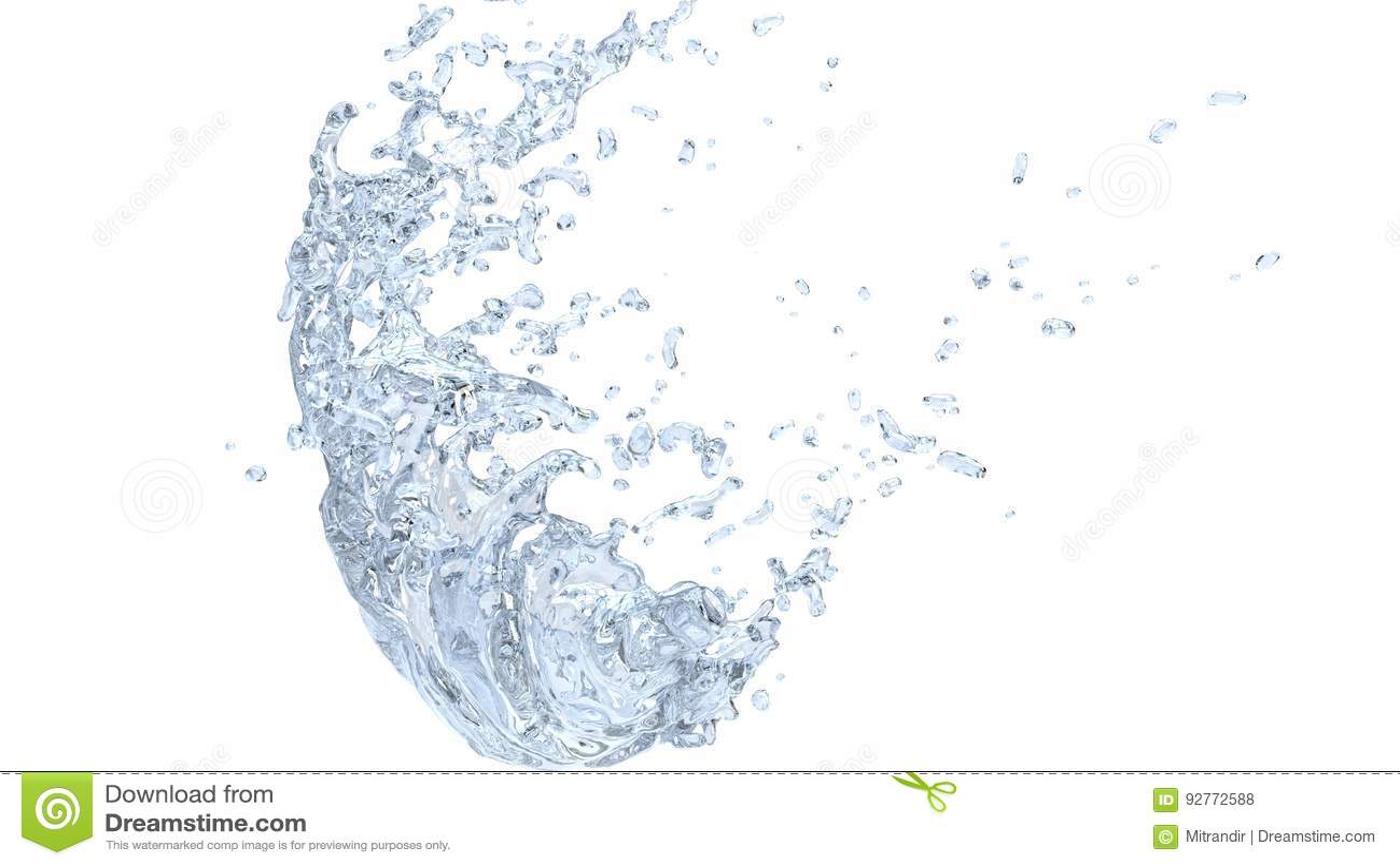 Ontruim koele watergolf