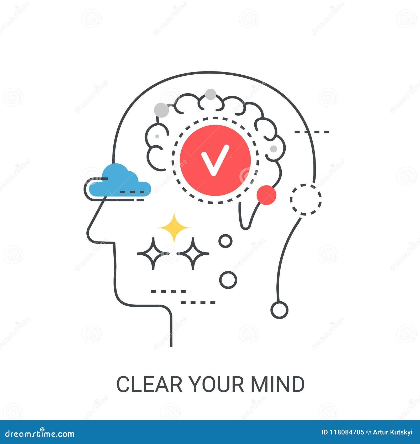 Ontruim uw concept van de menings vectorillustratie