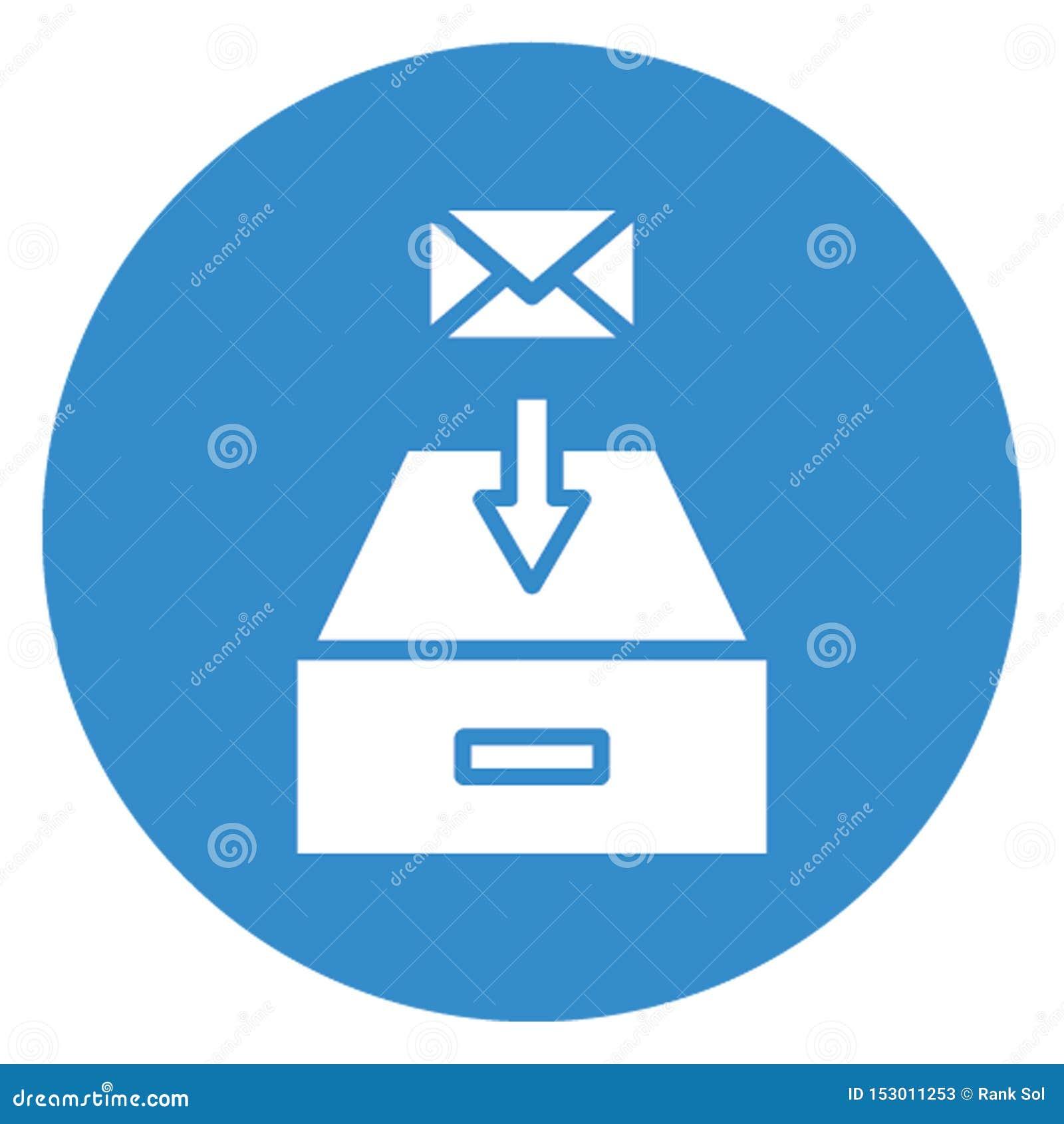 Ontvangen e-mail isoleerde Vectorpictogram dat zich gemakkelijk kan wijzigen