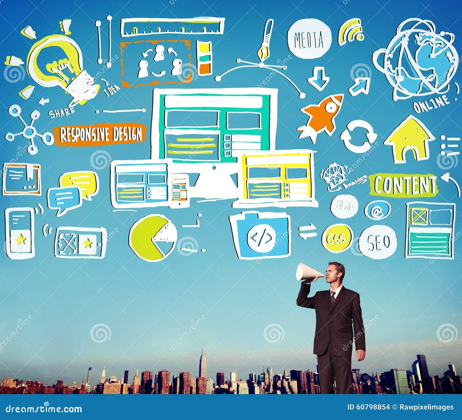 Ontvankelijk de Inhoudsaandeel Online Concep van de Ontwerp Ontvankelijk Kwaliteit