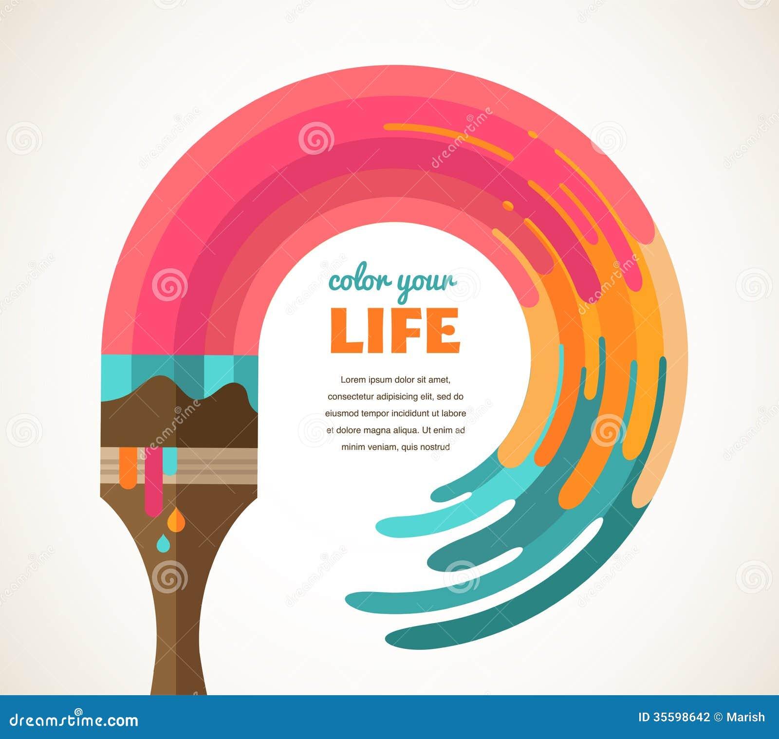 Ontwerp, creatieve, idee en kleurenconcept