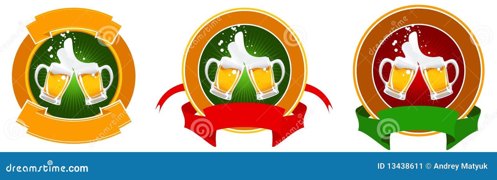 Ontwerp van bieretiket stock afbeelding afbeelding 13438611 - Separateur van stuk ontwerp ...