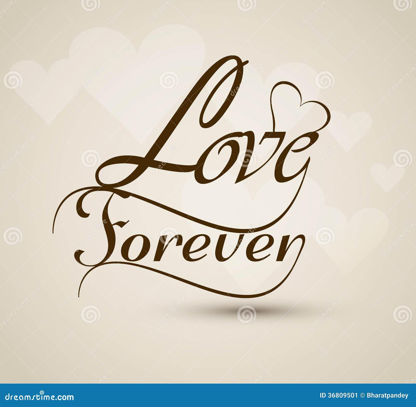 Top Ontwerp Van De Liefde Het Voor Altijd Modieuze Mooie Tekst Vector  #IE47