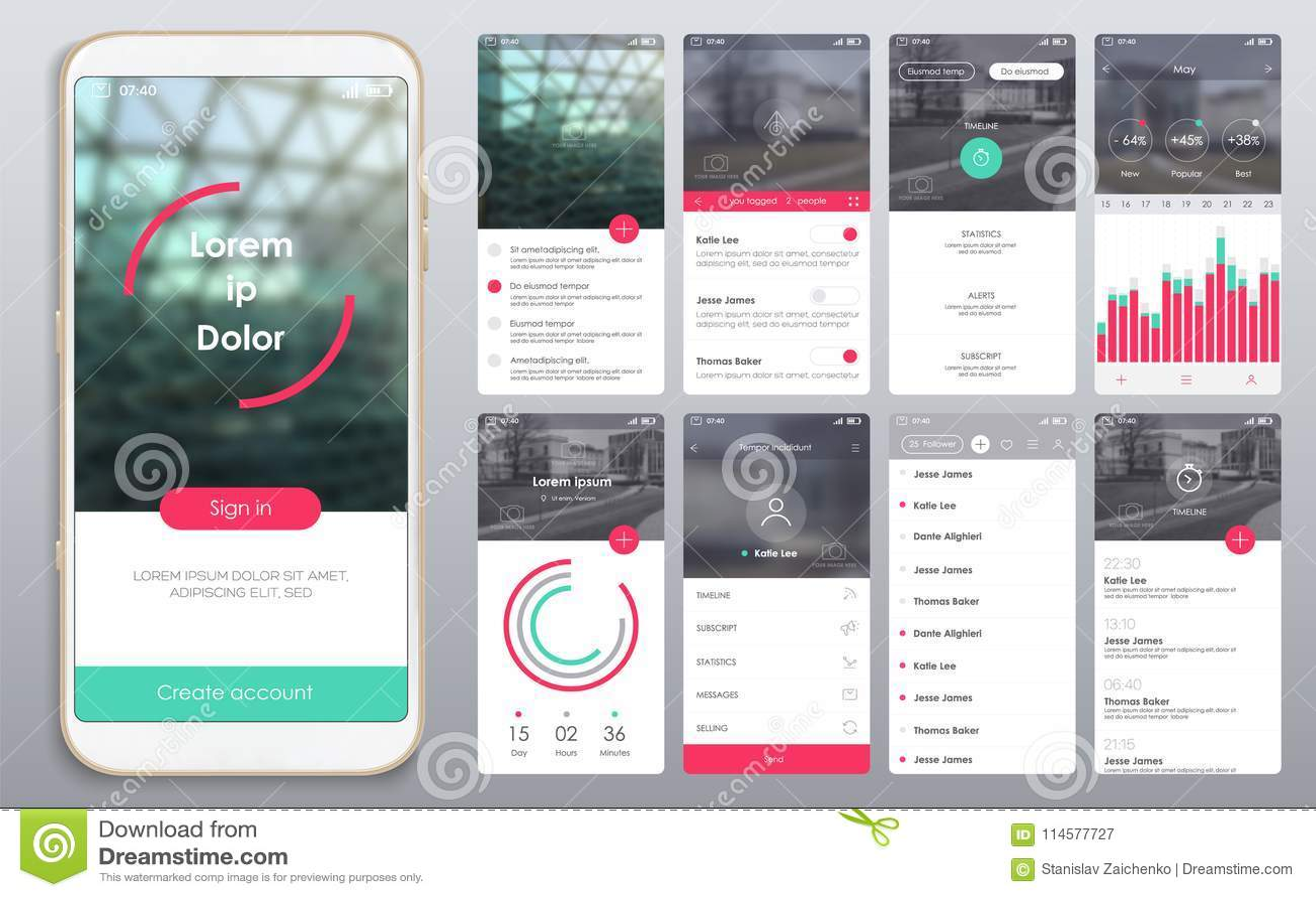 Ontwerp van de mobiele toepassing, UI, UX, GUI