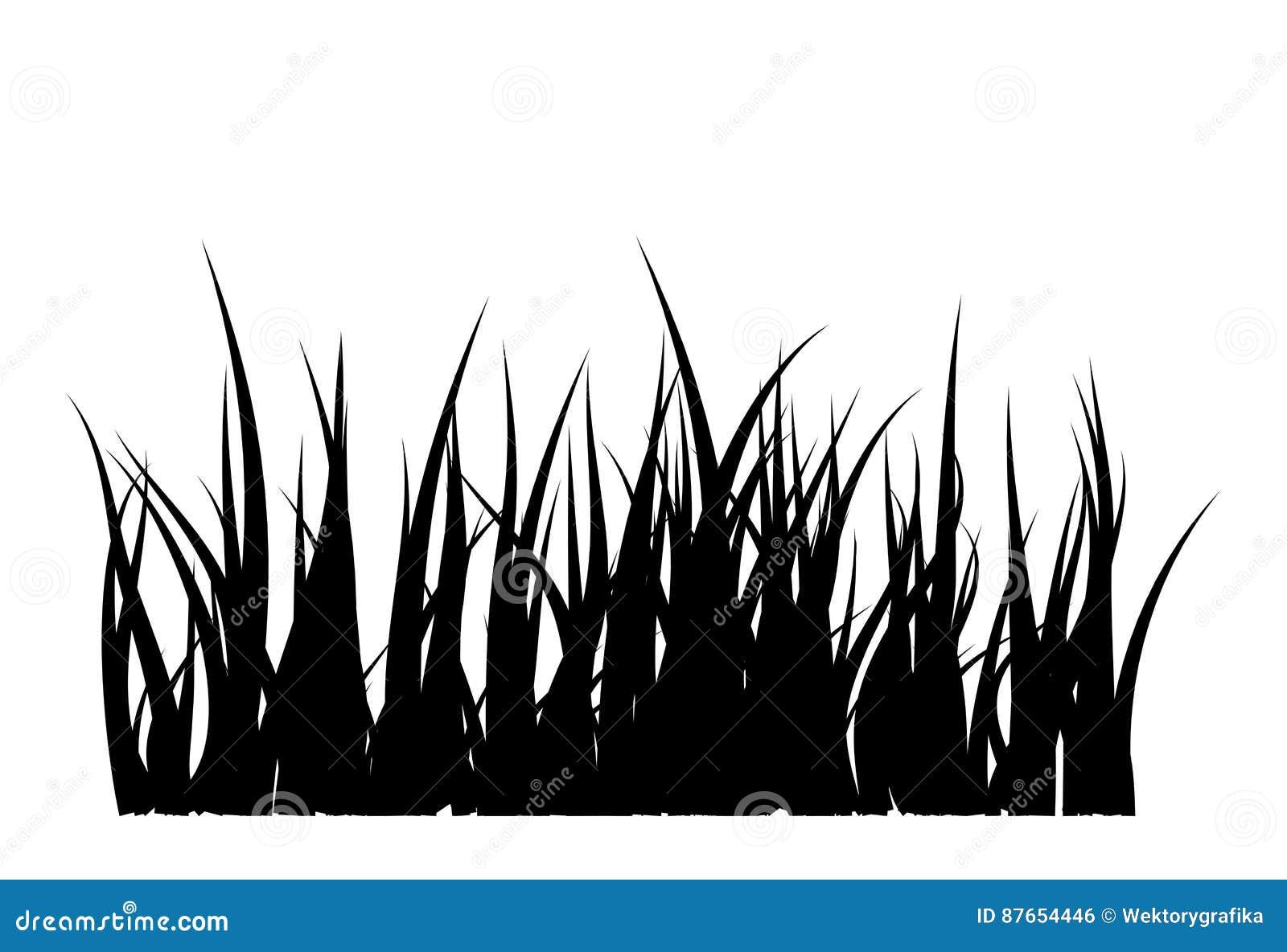 Ontwerp van het het symboolpictogram van het grassilhouet het vector