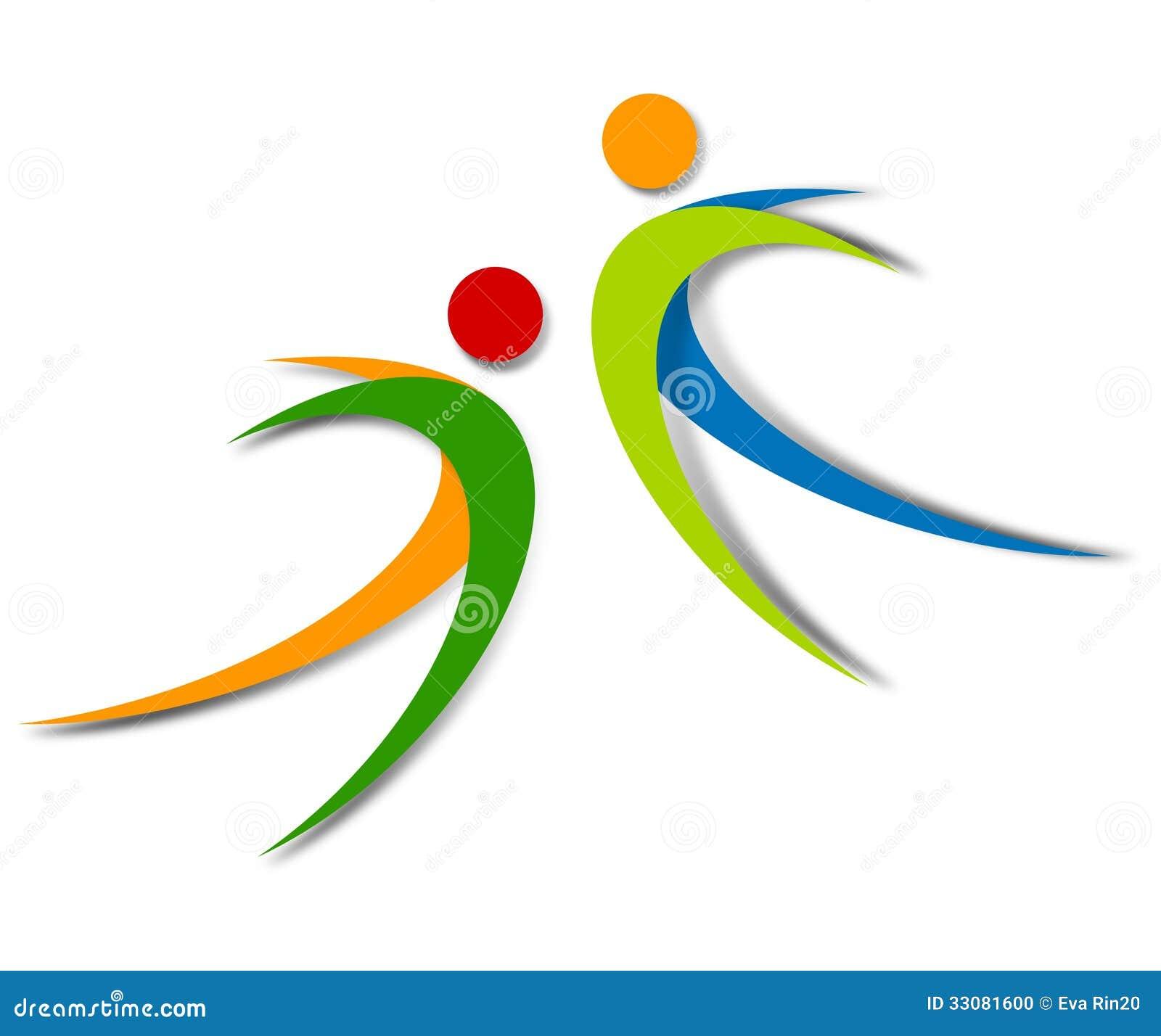 Ontwerp van het Wellness het abstracte embleem
