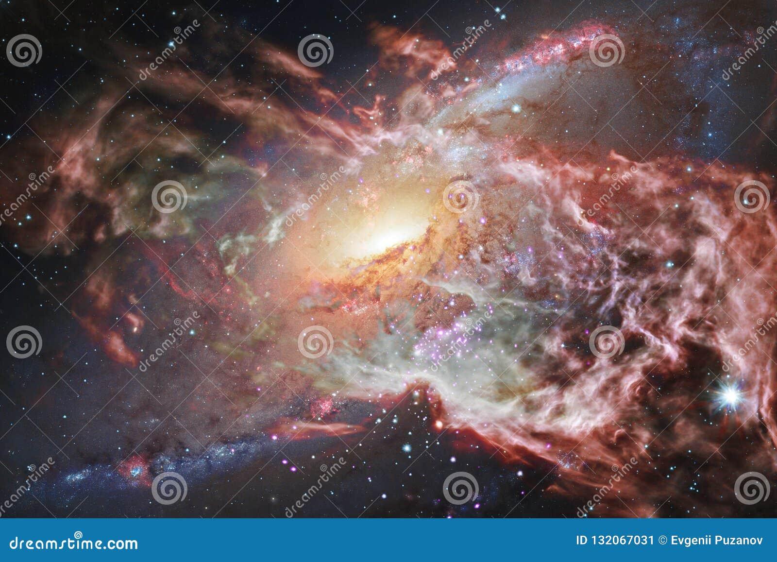 Ontzagwekkende melkweg in kosmische ruimte Starfields van eindeloze kosmos