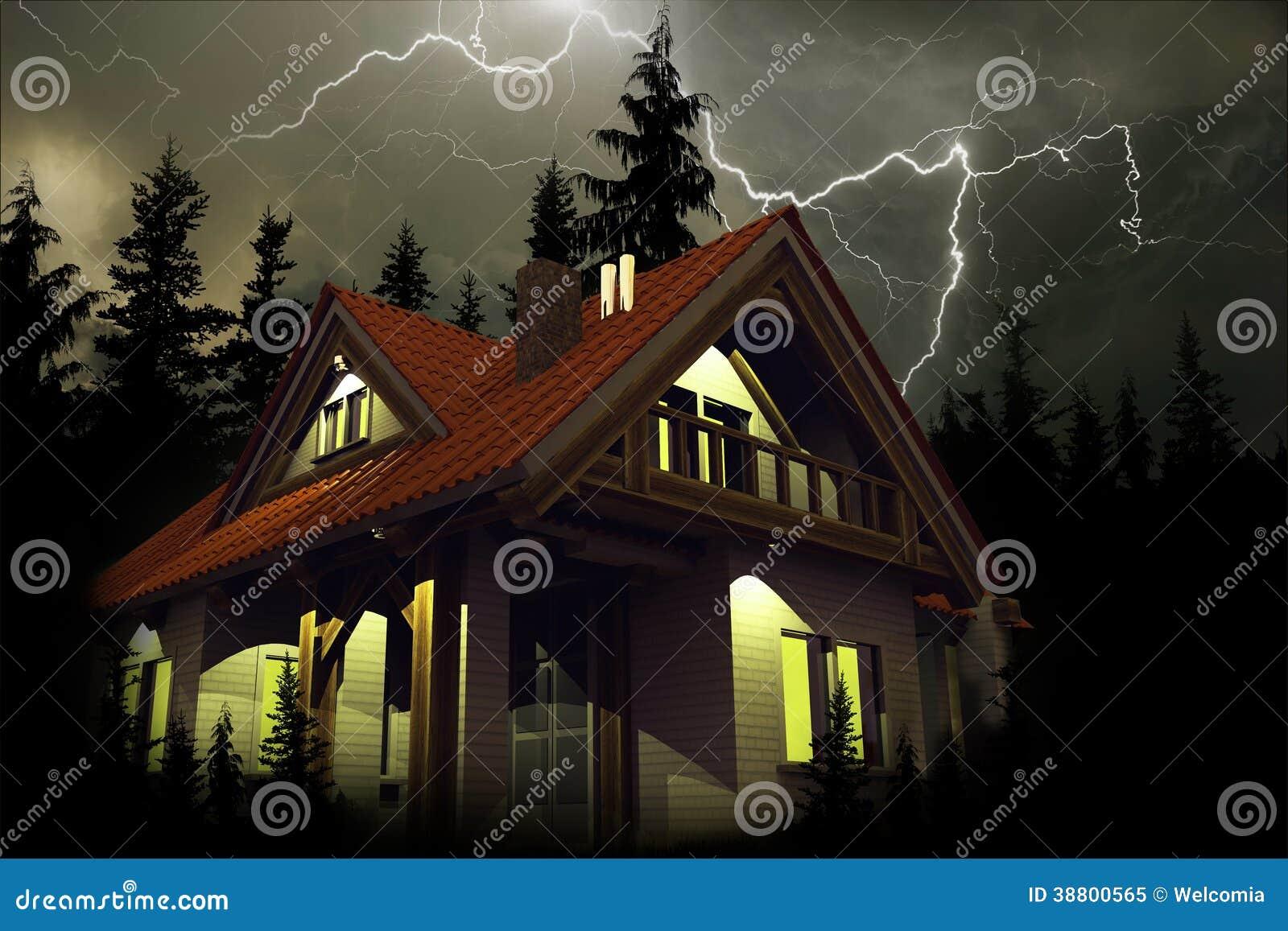 Onweer boven het Huis