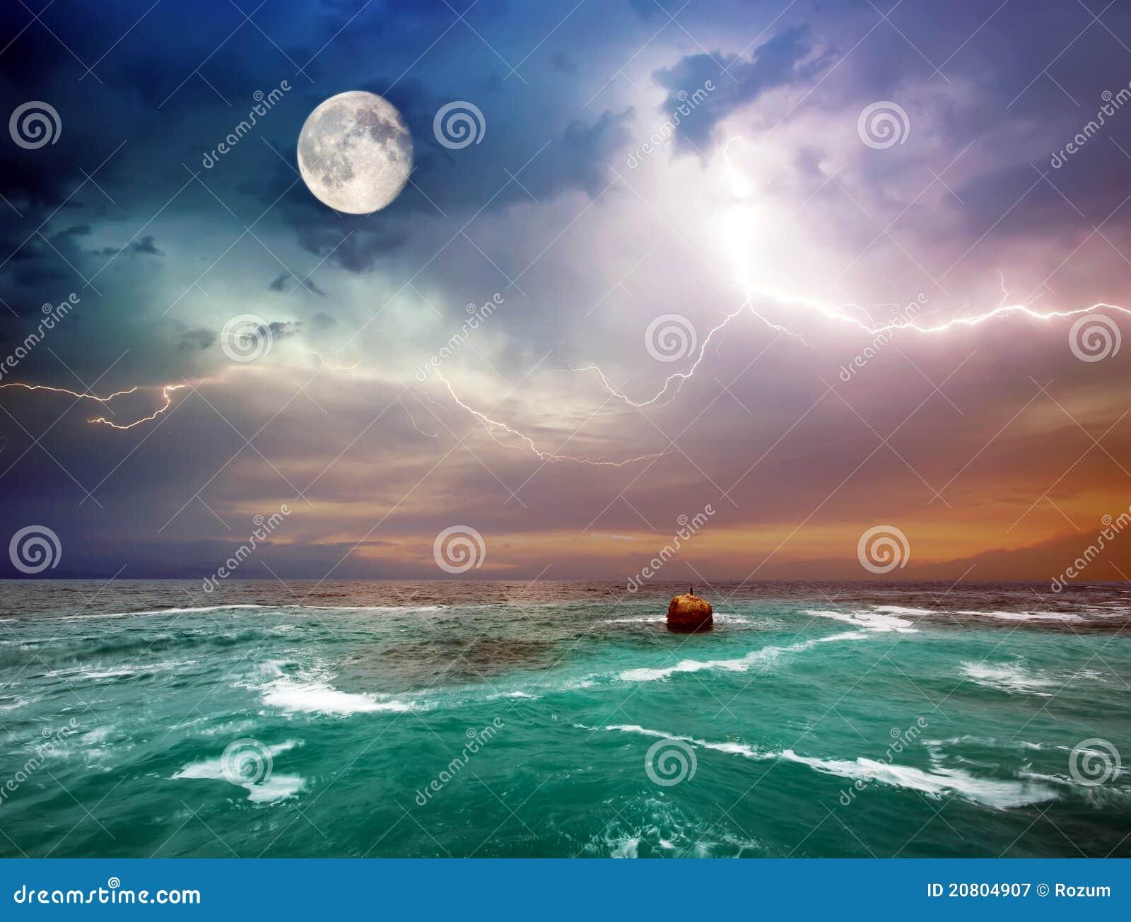 Onweer op het overzees