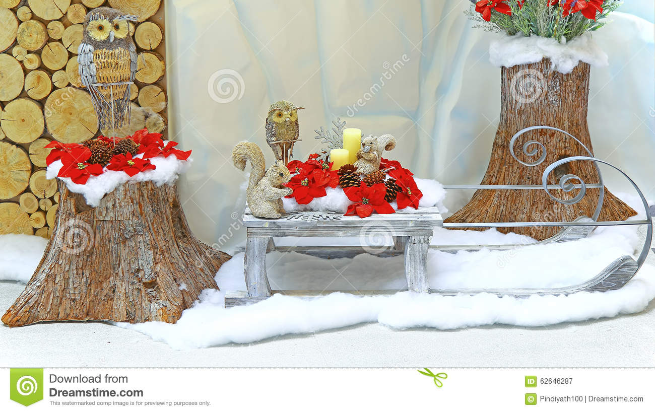 Wood carved christmas decorations stock image image of figures