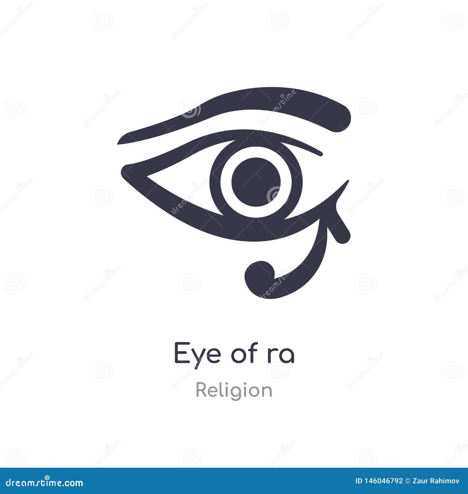 Oog van Ra-pictogram geïsoleerd oog van Ra-pictogram vectorillustratie van godsdienstinzameling editable zing symbool kan gebruik
