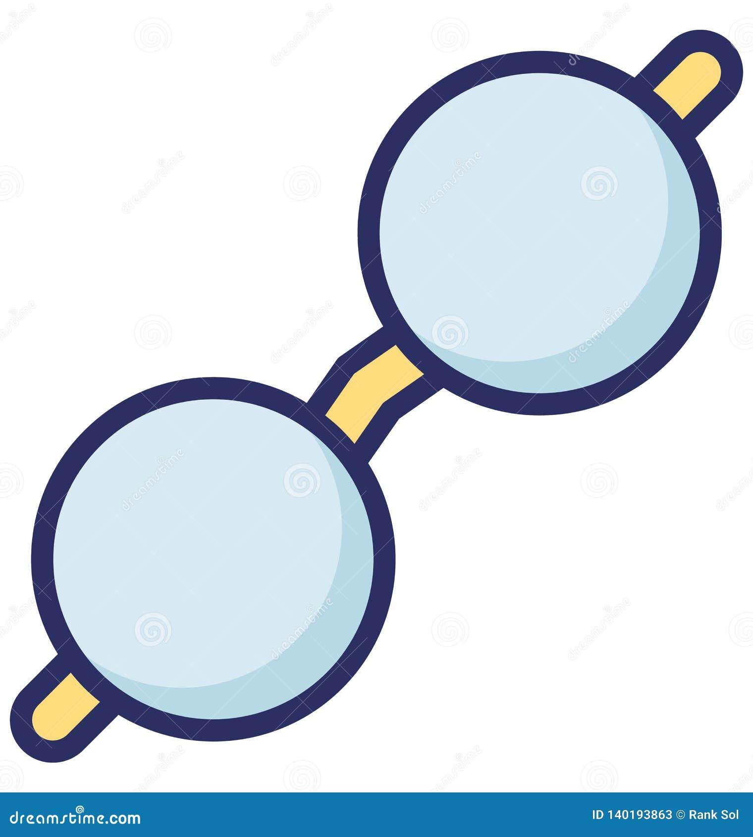 Oogglas Vectorpictogram dat gemakkelijk kan worden gewijzigd of uitgeven
