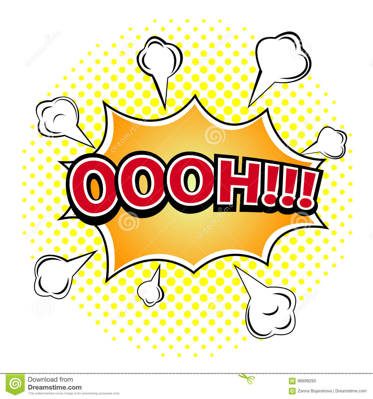 Oooh oooh! comic book explosion. stock vector - illustration of word