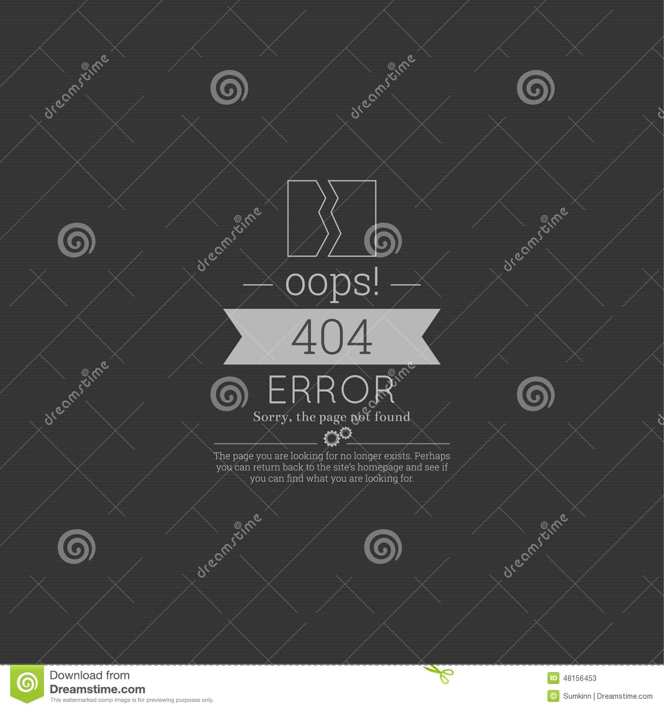 oops  404 error  sorry  page not found  stock illustration