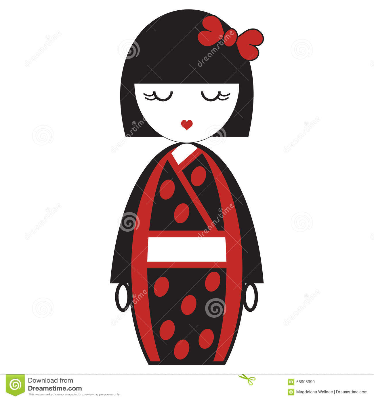 Ooriental japanese geisha doll with kimono with oriental for Oriental accessories