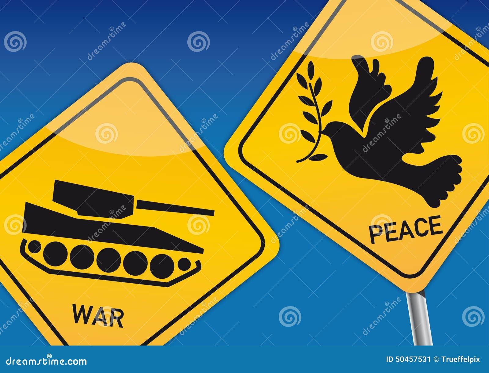 Citaten Oorlog En Vrede : Oorlog en vrede stock illustratie bestaande