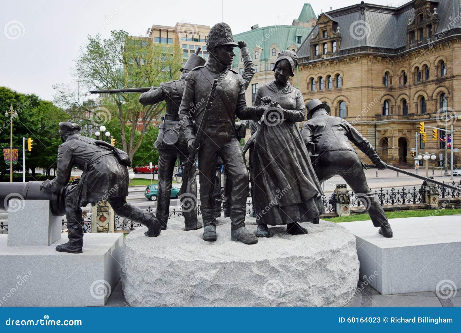 Oorlog van 1812 Monument, Ottawa, Ontario, Canada