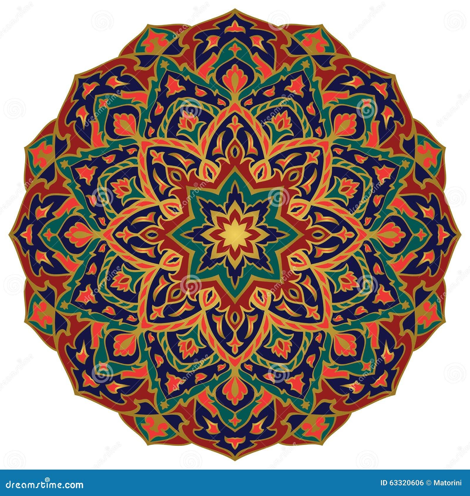 Oostelijke kleurrijke mandala vector illustratie afbeelding 63320606 - Oostelijke mozaiek ...