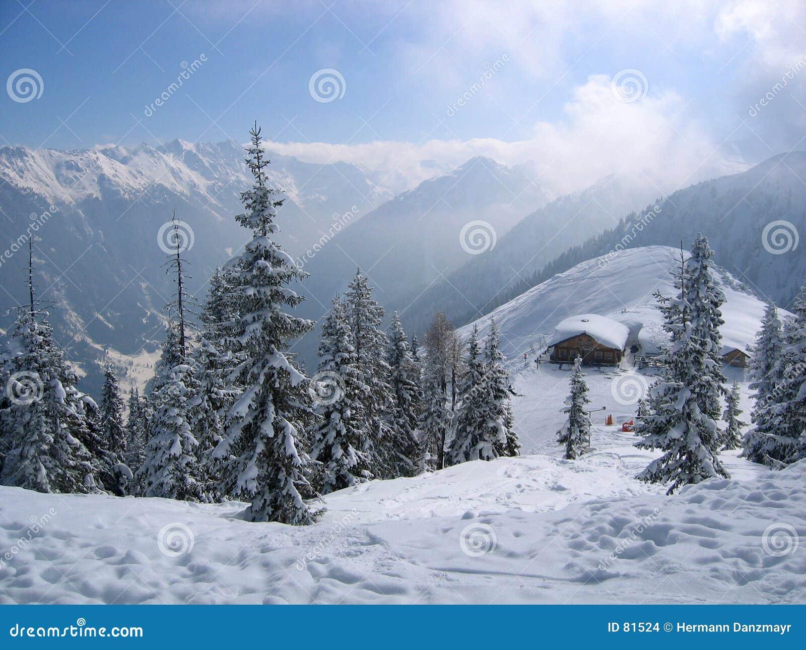Oostenrijk De Droom Van De Winter Stock Foto Afbeelding
