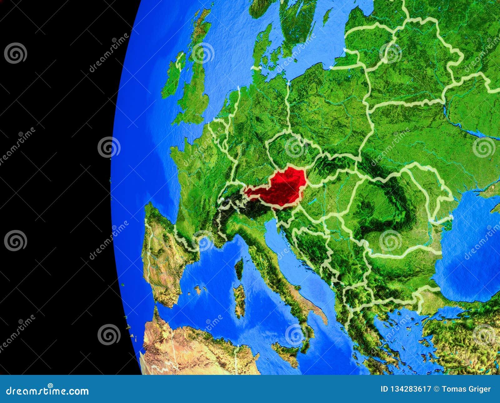 Oostenrijk van ruimte