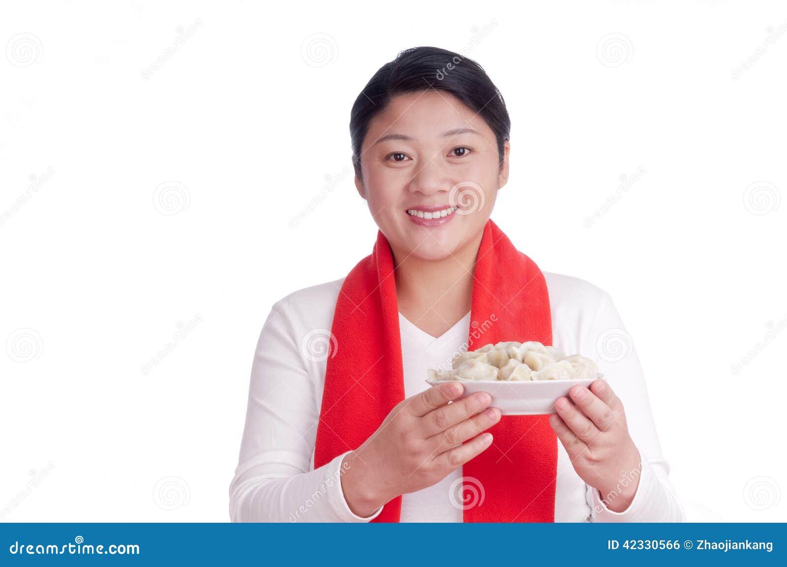 Oosterse vrouwengreep een plaatbollen
