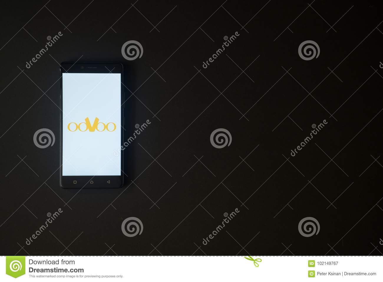 Oovoo Logo On Smartphone Screen On Black Background  Editorial