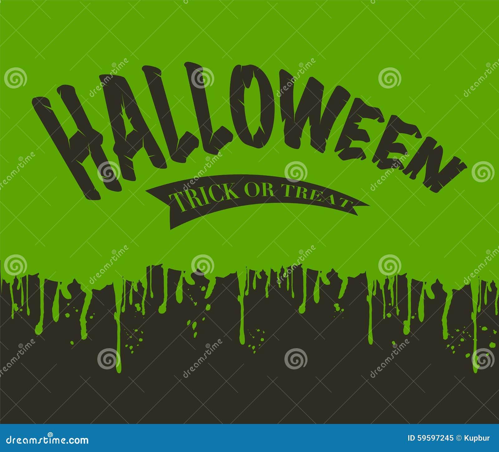 Oozing Slime Halloween