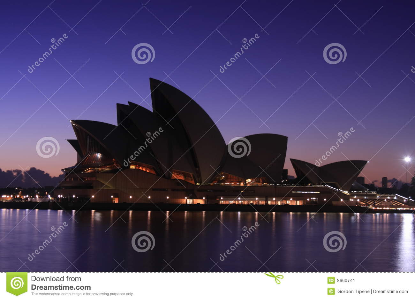 Opéra Sydney de maison d aube