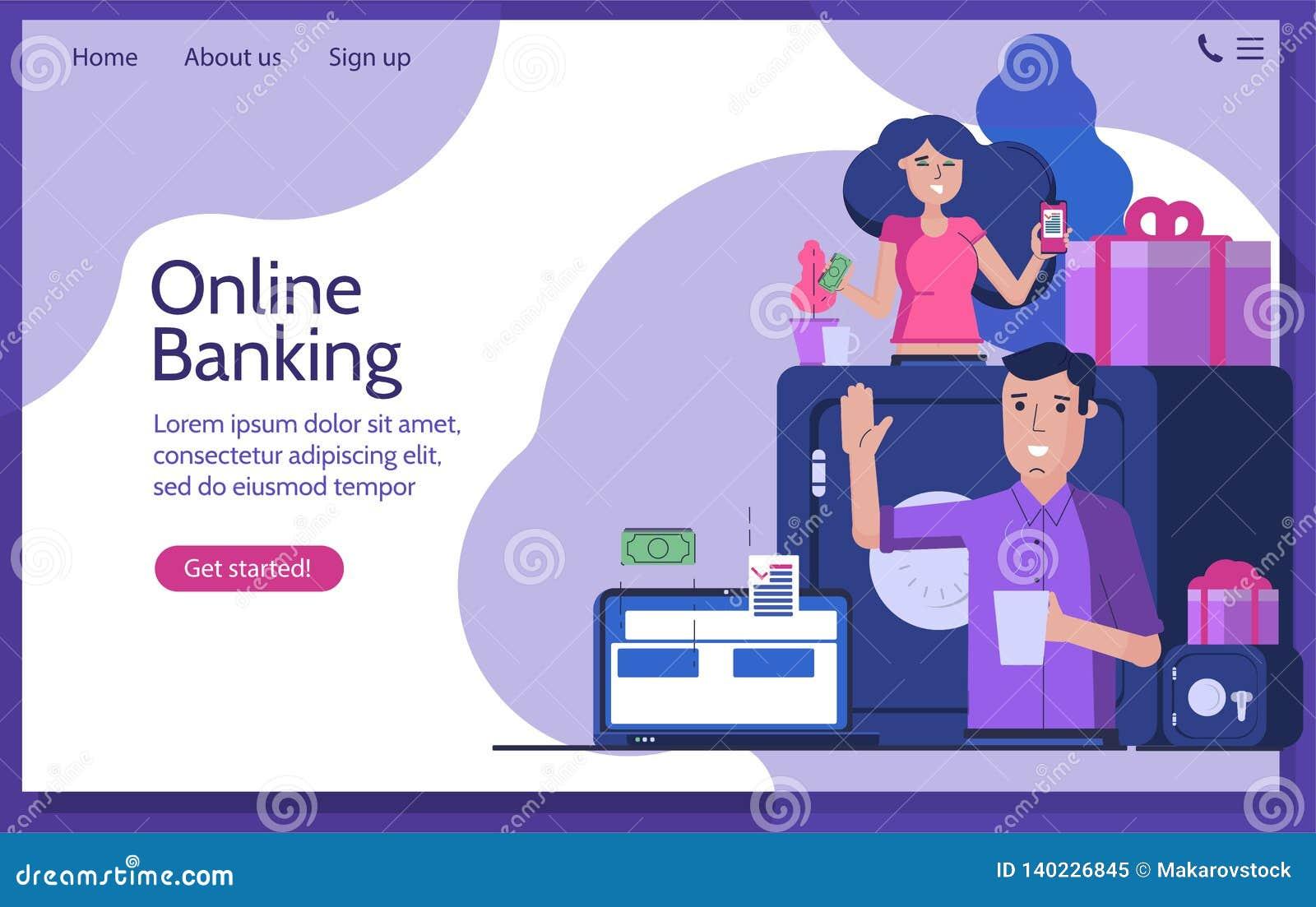 Opérations bancaires en ligne et envoyer l argent