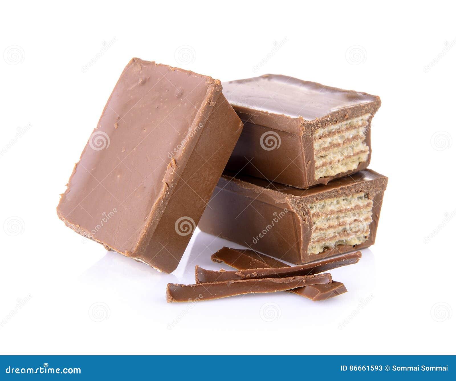 Opłatki w czekoladzie odizolowywającej na bielu