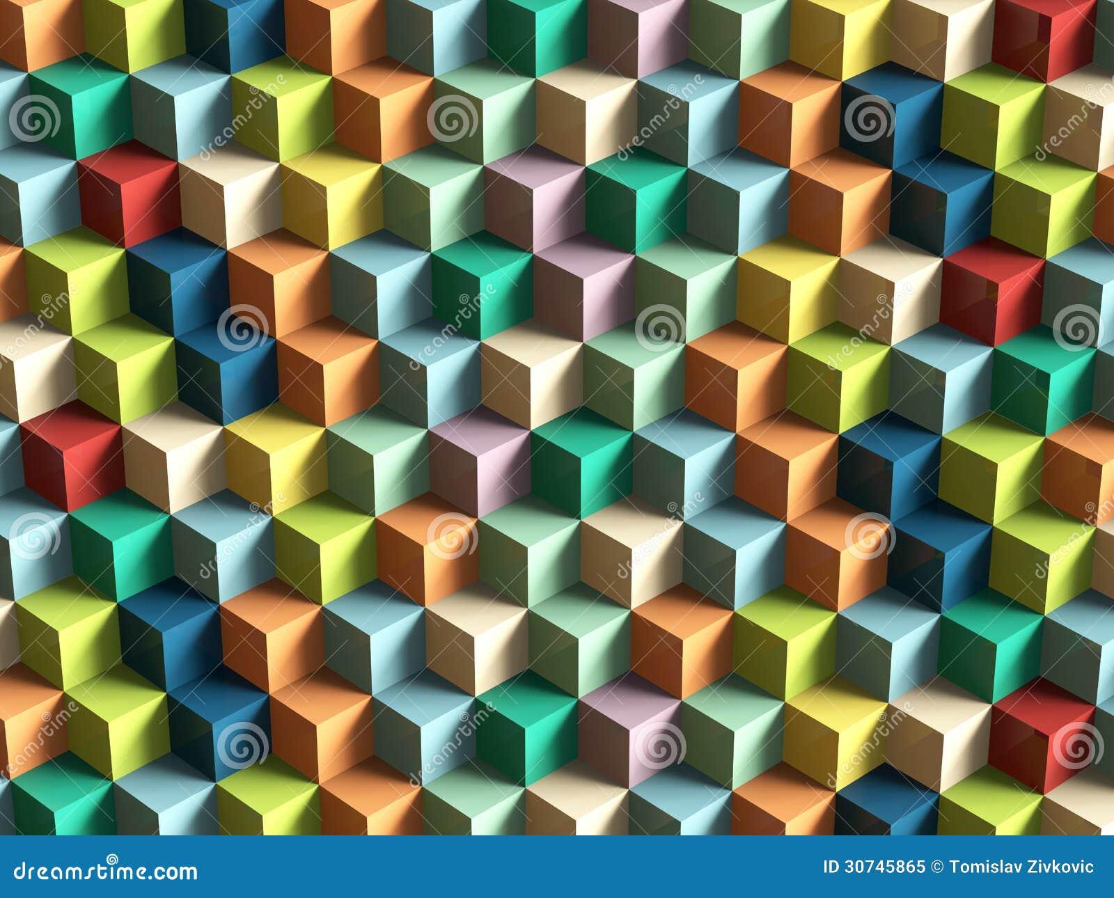 Op Art Cubes Pattern Royalty Free Stock Photo