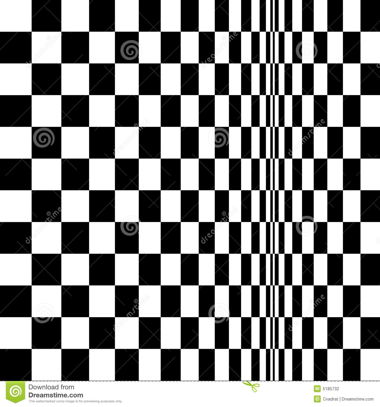 Op Art Homage To Br Distorted Checkerboard Stock