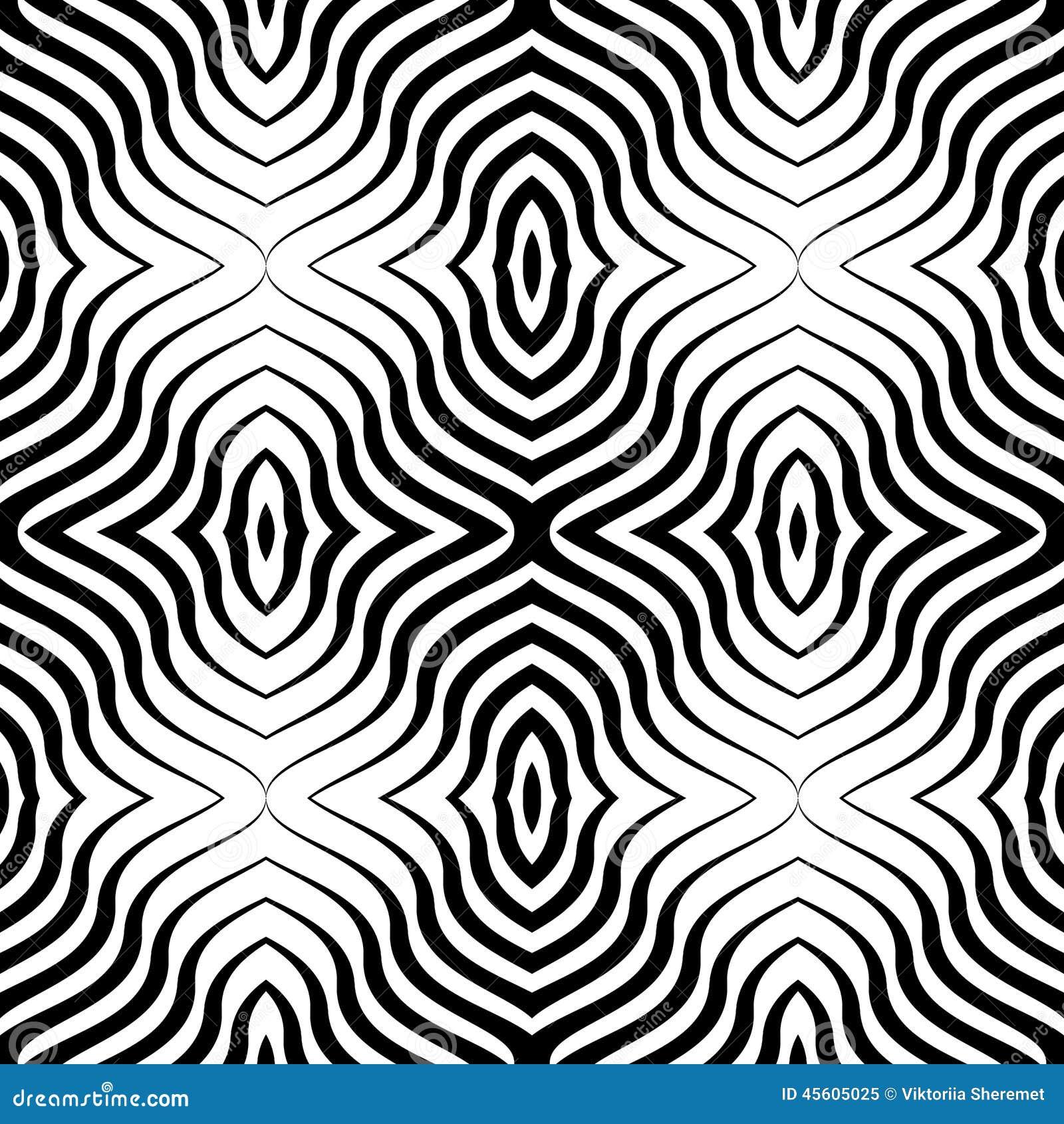 Line Design Art Rubric : Op art vector seamless geometric pattern