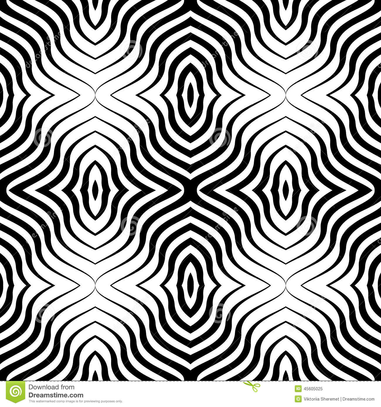 Line Art Patterns : Op art vector seamless geometric pattern stock