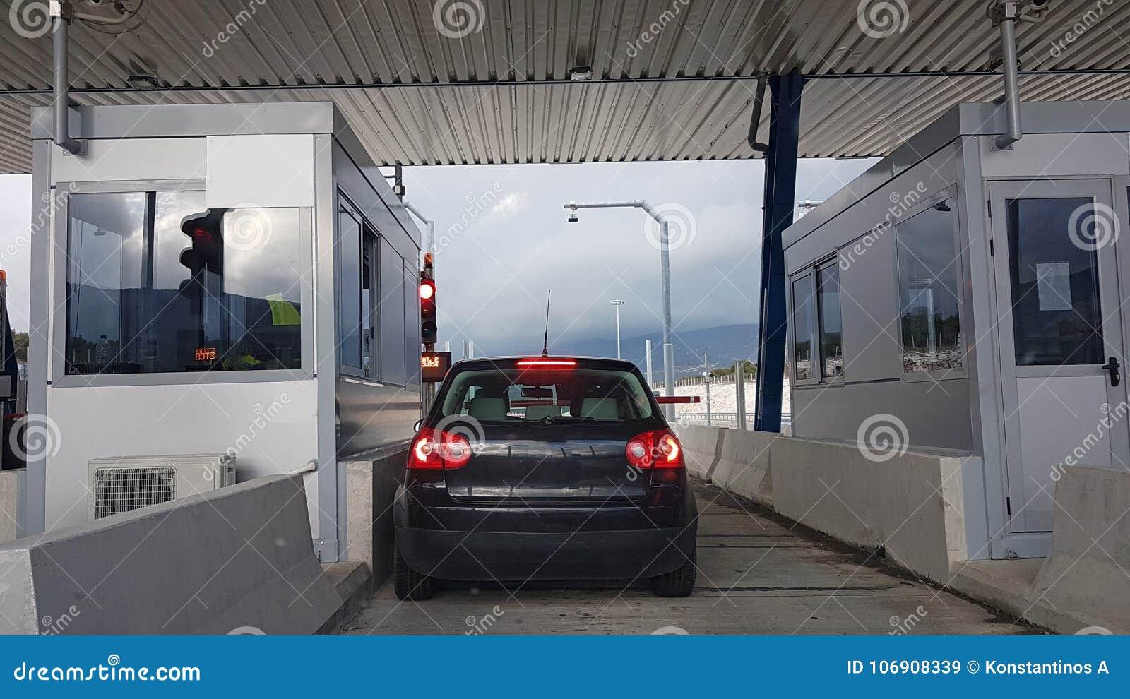 Opłaty drogowa stacja w Ionia ulicie Grecja