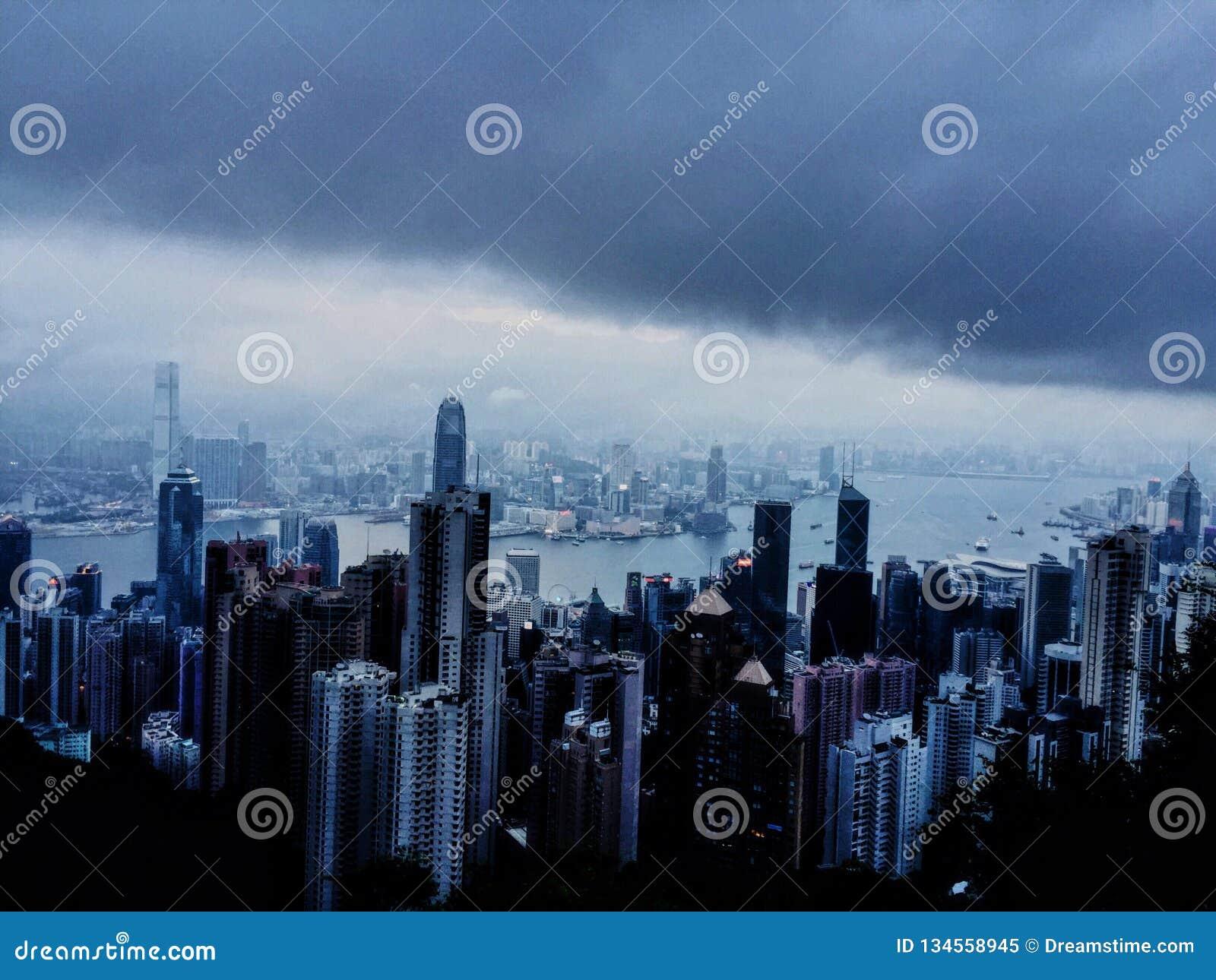 Op de bovenkant van Hong Kong