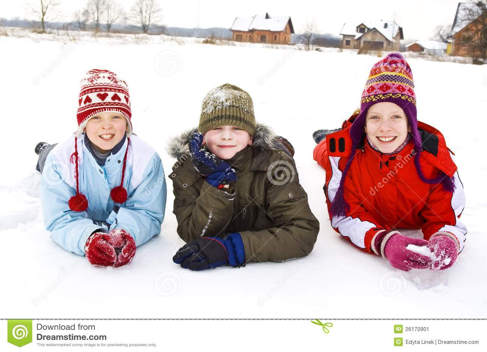 Op de sneeuw