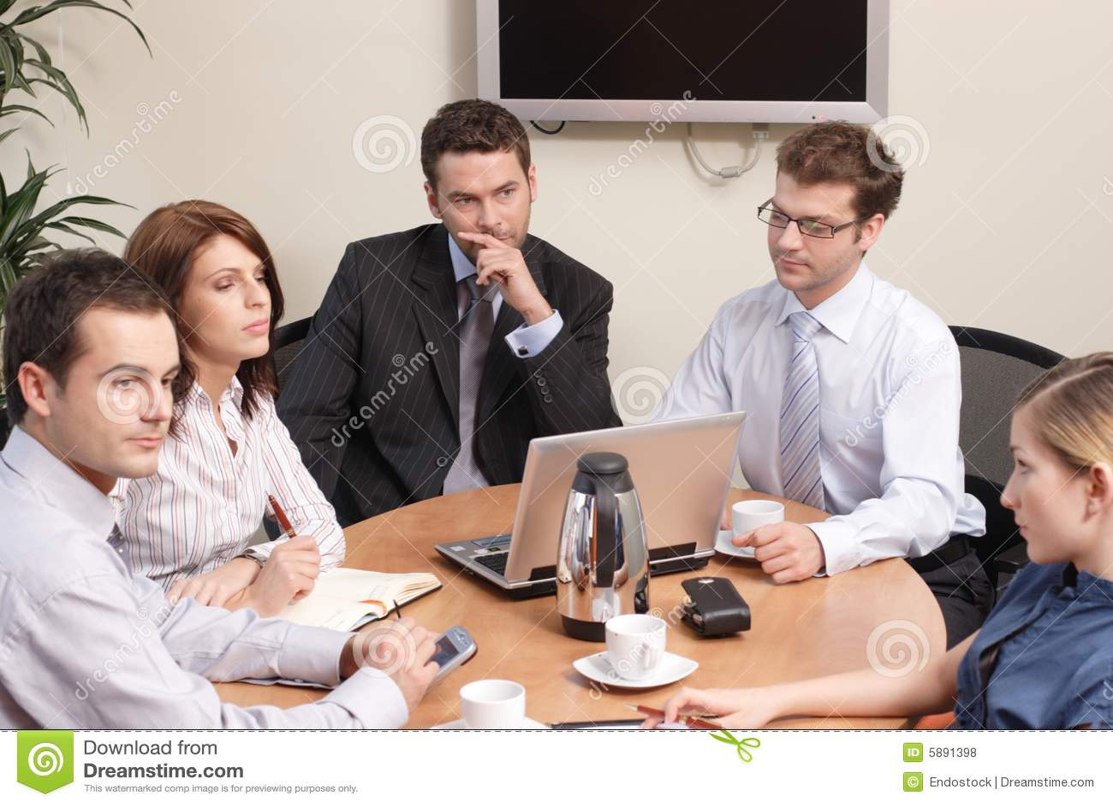 Op de vergadering