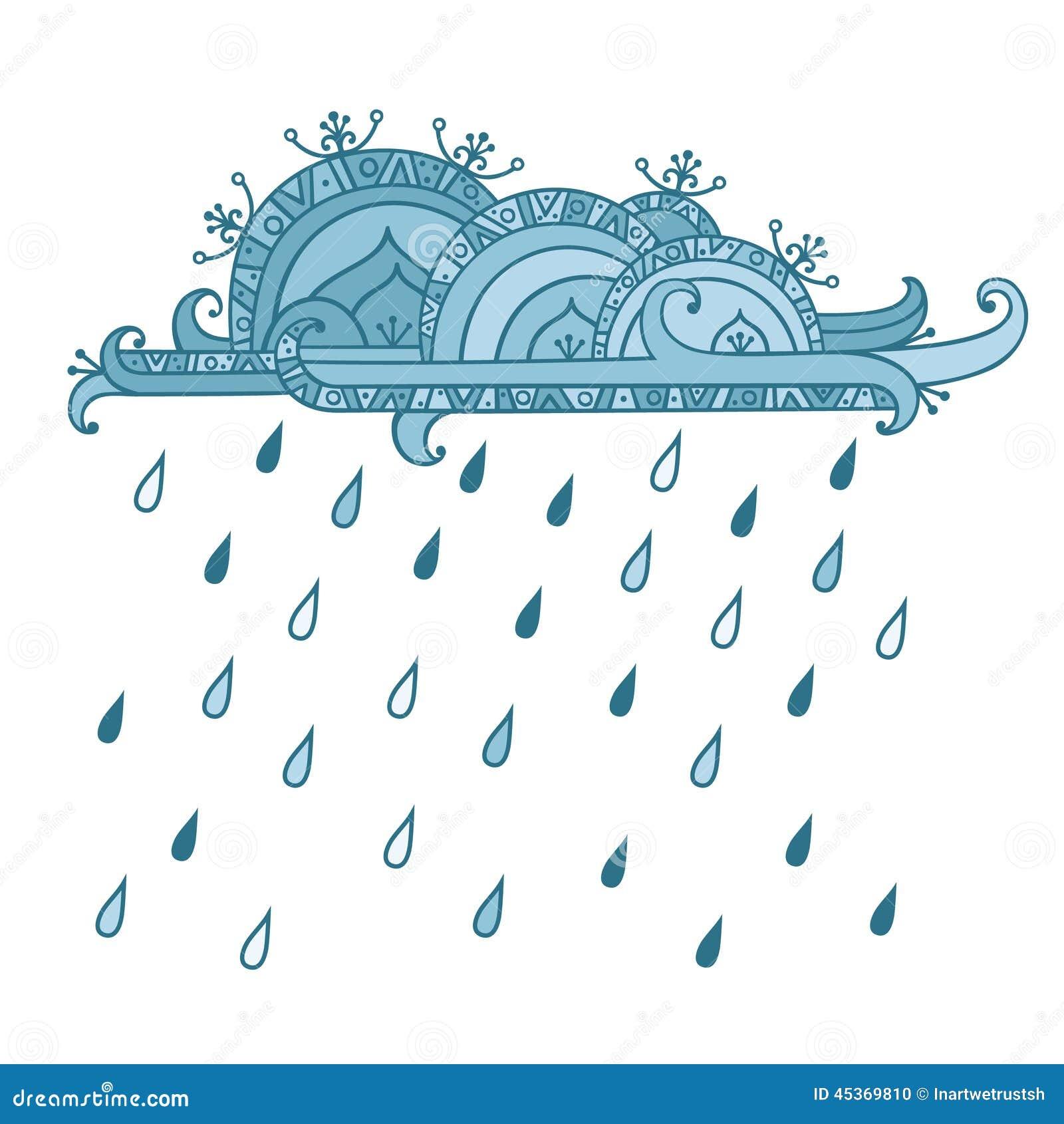 Opacifiez avec des baisses de pluie d isolement sur le fond blanc