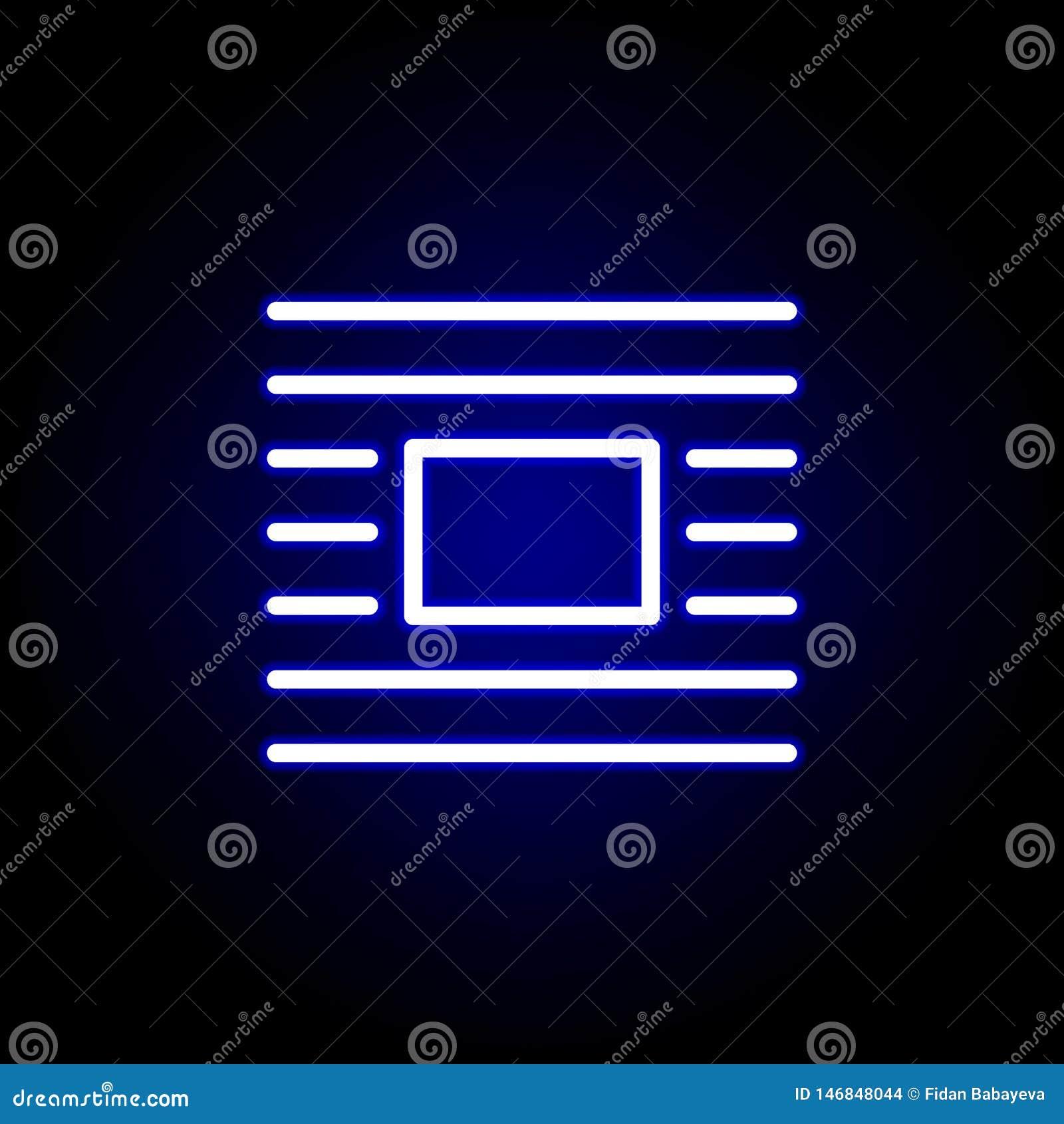 Opakunek ikona w neonowym stylu Mo?e u?ywa? dla sieci, logo, mobilny app, UI, UX