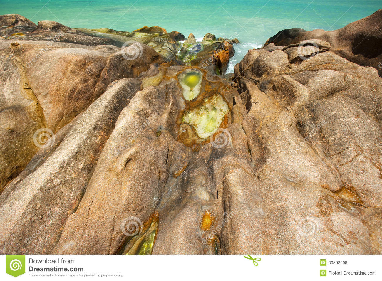 Download Opal Waterponds On Granite Rocks Stock Photo - Image of fantasy, copy: 39502098