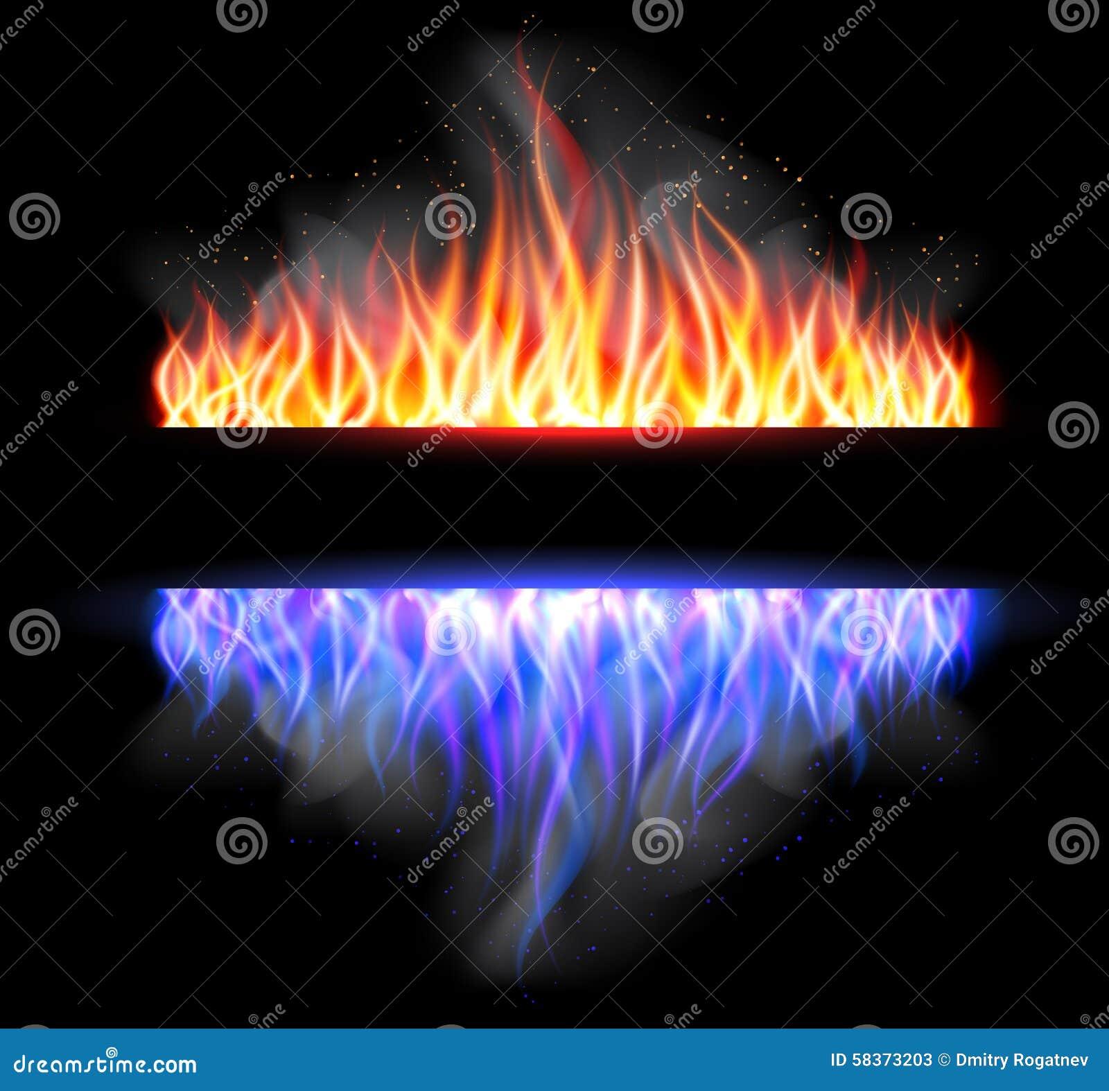 Oparzenie płomienia ogienia wektoru tło